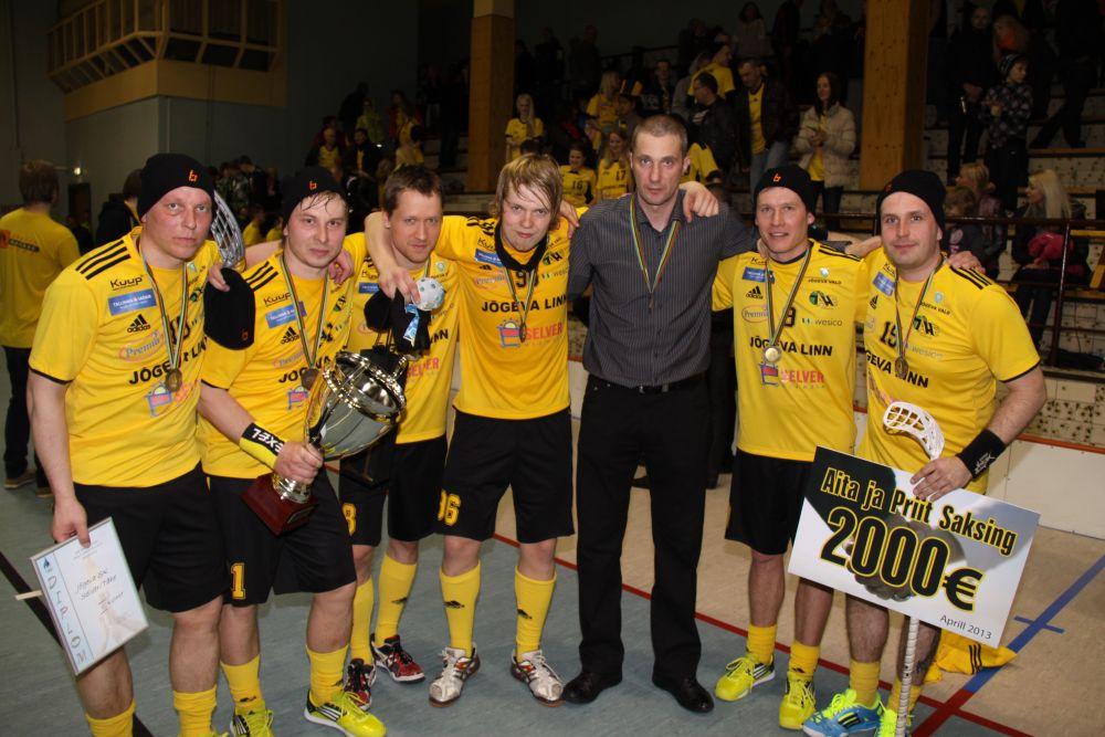 Saalihoki Eesti meistrivõistlused võitis Jõgeva Tähe esindusmeeskond