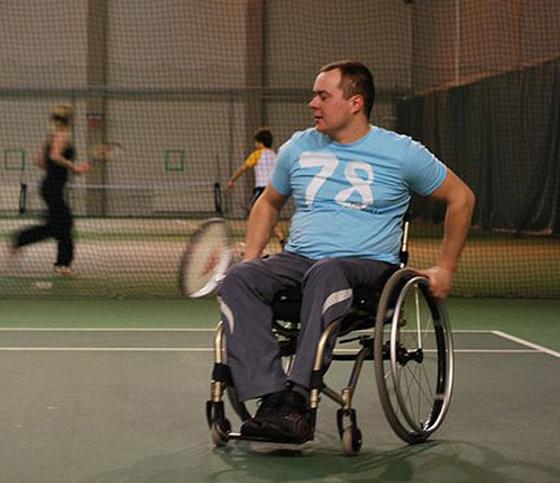 Viljar Villiste osales ratastoolitennise turniiril