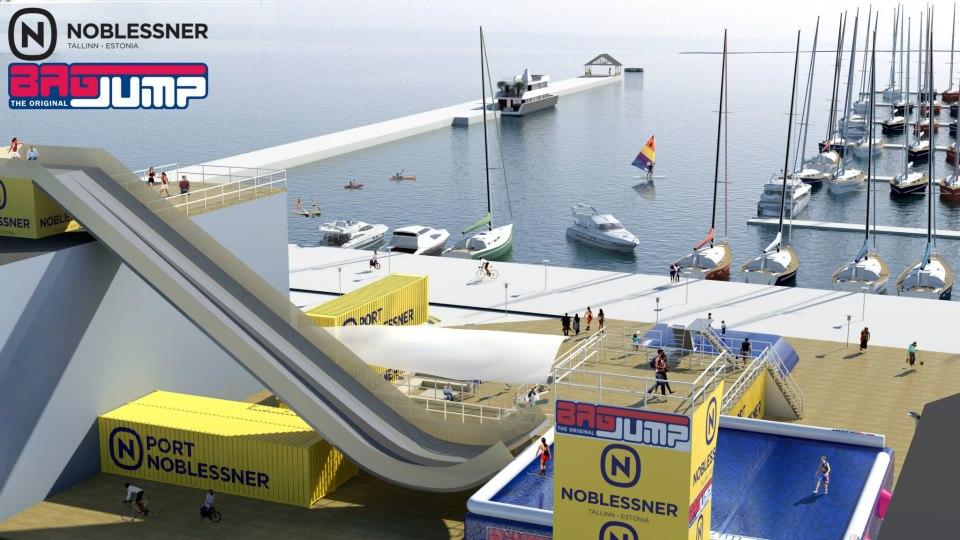 Noblessneri sadamas avatakse ekstreemspordiplats ja kohvik