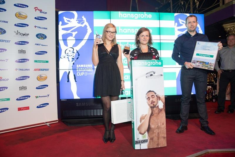 Hansgrohe kiirenduskilomeetri üldvõitjad on Alges Maasikmets ja Sille Puhu
