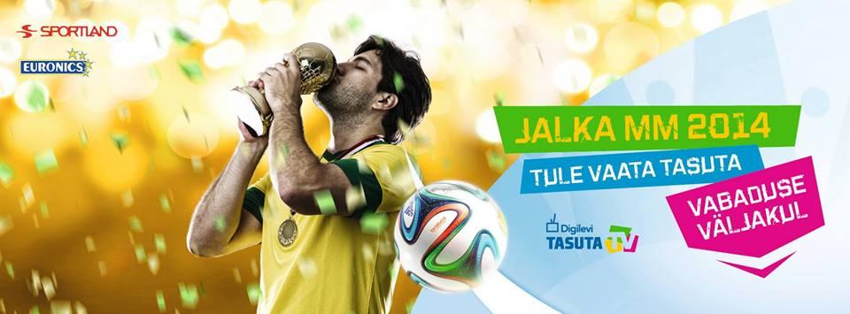 Tänasest on jalgpalli MM Vabaduse väljaku 46 m2 suurusel ekraanil