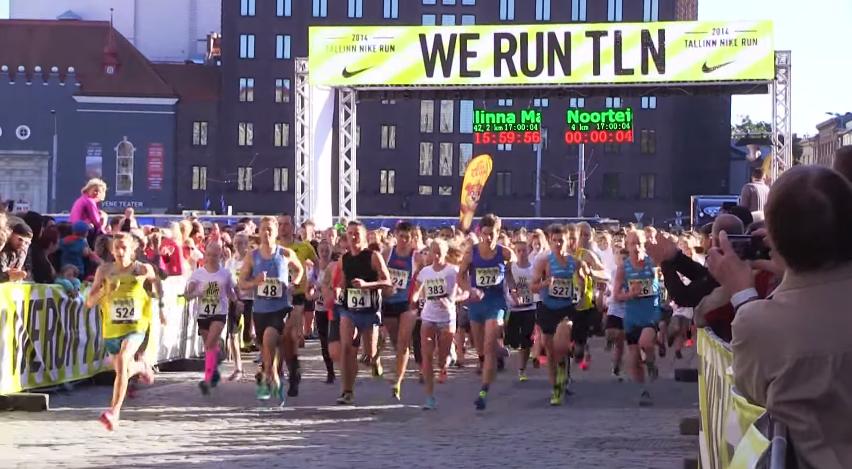 Esimest korda toimunud Nike Noortejooksul osales 806 jooksusõpra