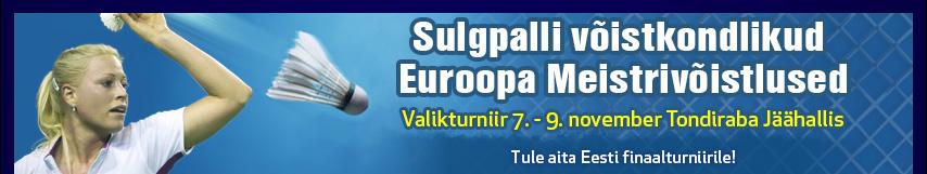 Tallinnas peetakse sulgpalli võistkondlike EMi valikturniir