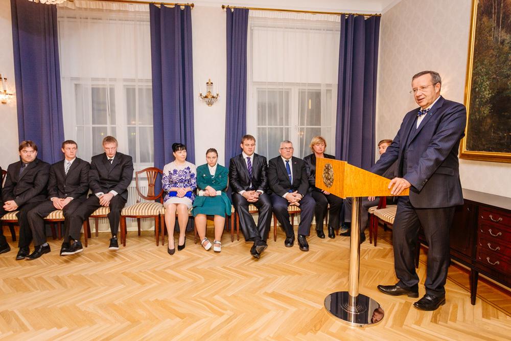 President Ilves tunnustas Eesti parimaid sportlasi