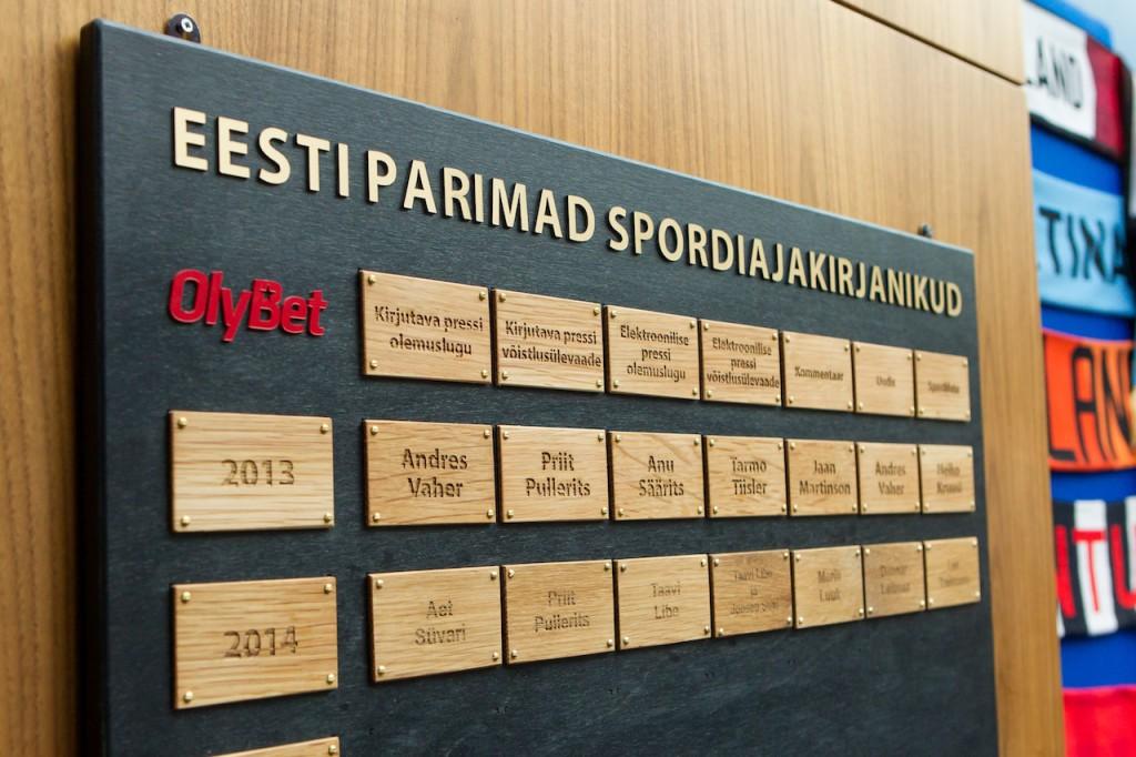 Aasta sportlane autasustas parimaid spordiajakirjanikke