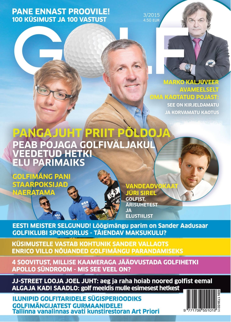 Ajakiri Golf 3-2015 esikaas