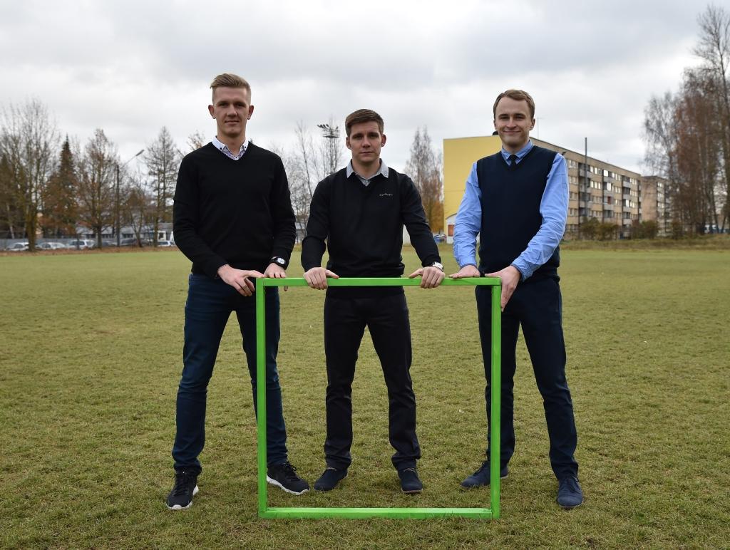 Kampaania eestvedajad Kaarel Kiidron, Kristjan Tiirik ja Kalle Paas Foto: Imre Pühvel / JK Tammeka