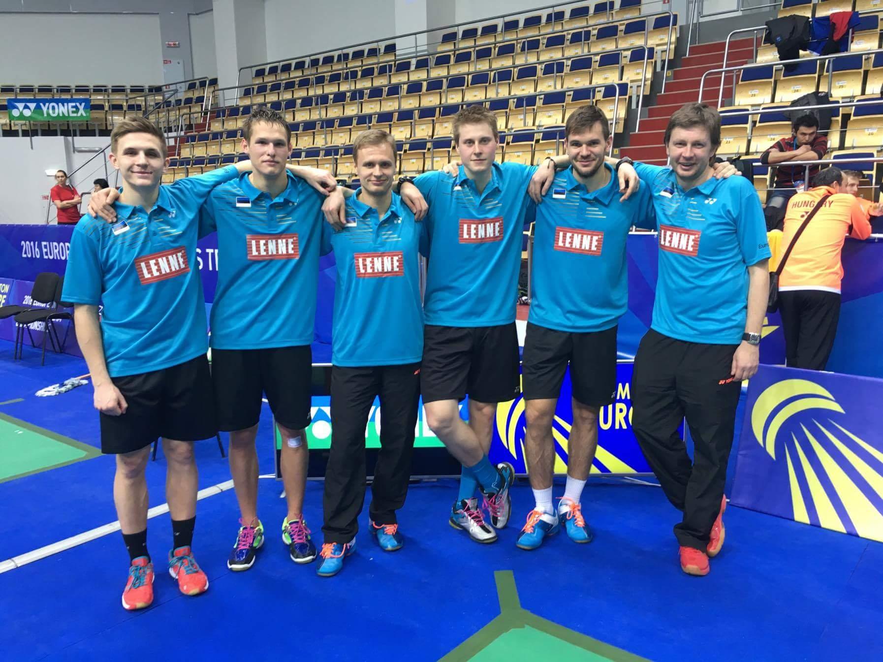 Eesti meeskond võitis sulgpalli EM-il Ungari 3-2