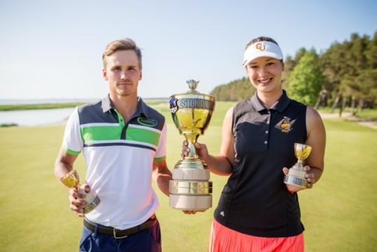 AJAKIRI GOLF! Estonian Amateur Openi võitsid Kim Koivu ja Anna Diana Švanka