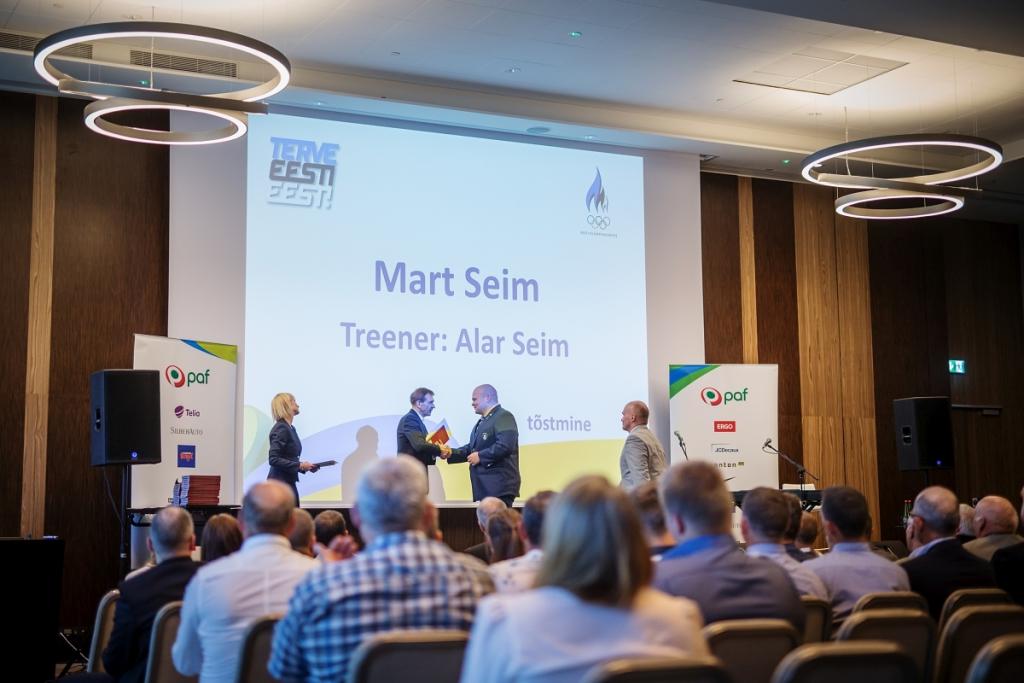 EOK president Urmas Sõõrumaa rõhutas tänuüritusel iga Eesti sportlase medalivõidu tähtsust