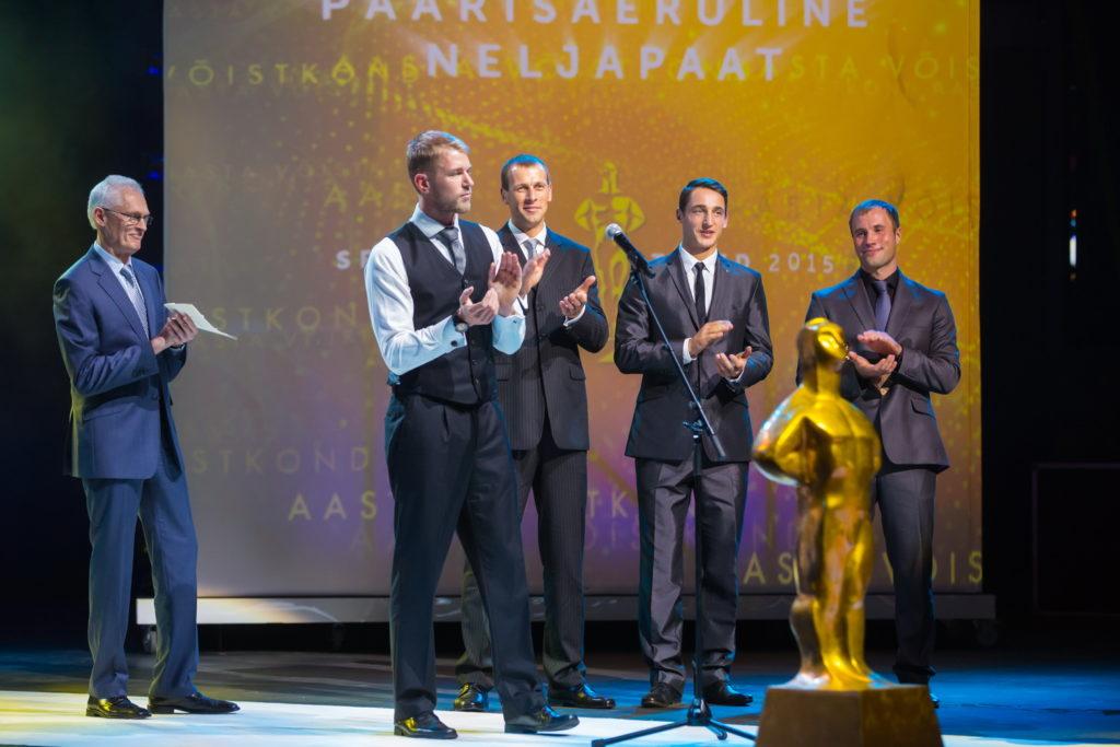 Aasta võistkond 2015 - Eesti paarisaeruline neljapaat Foto: Tiit Mõttus