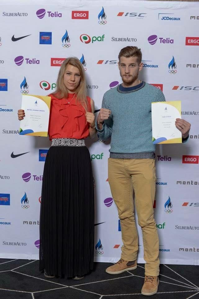 Astrid Johanna Grents ja treener Tony Hitrov