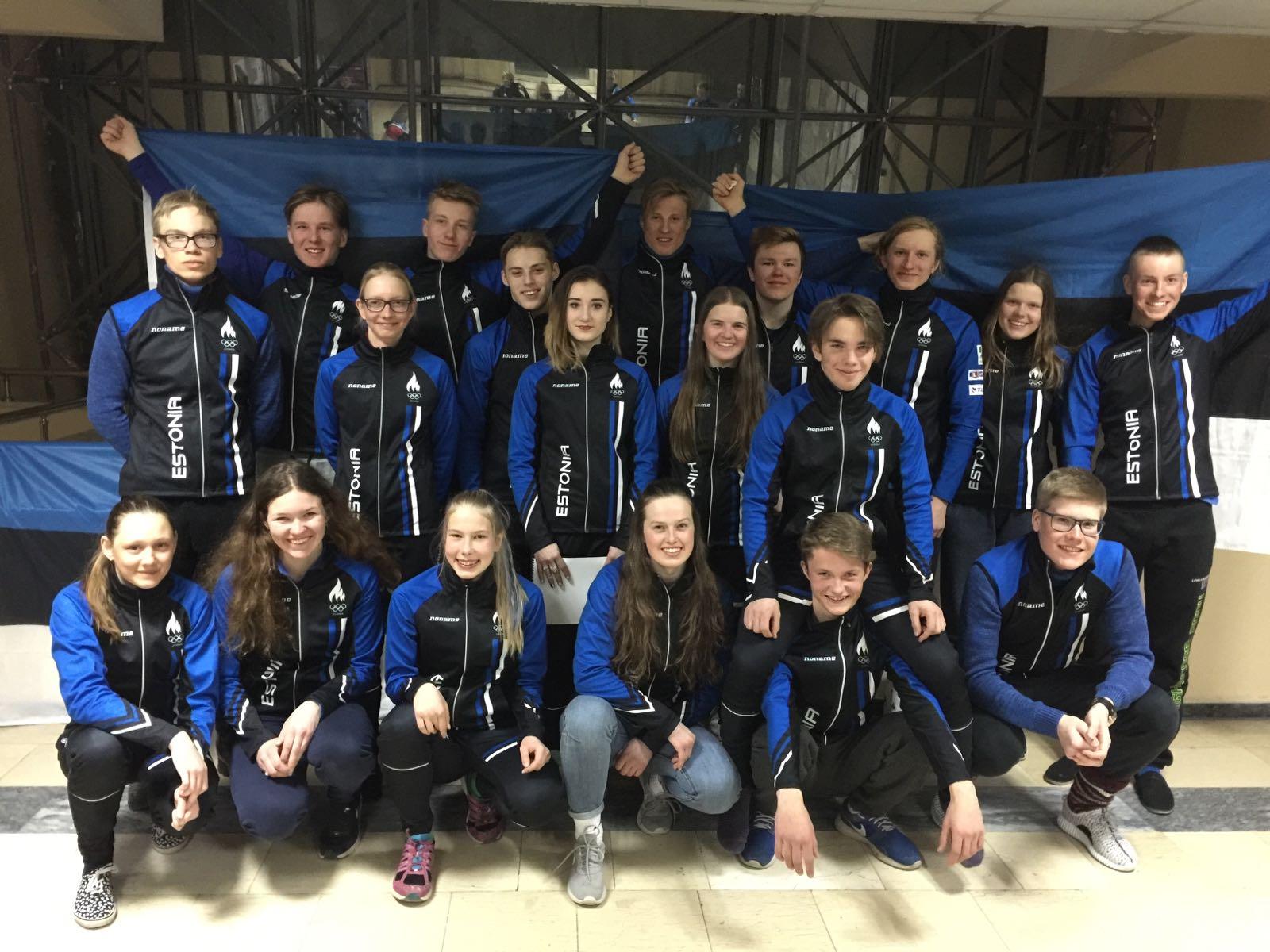 Eesti laskesuusatiim võitis noorte olümpiafestivalil segateates 7. koha