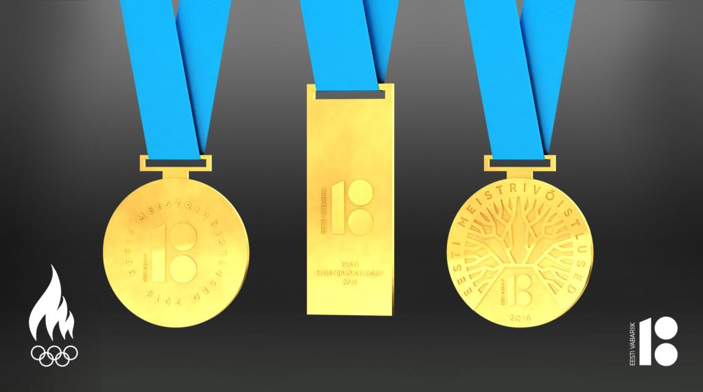 Eesti meistrivõistluste medalid saavad Eesti 100. sünnipäevaks ühtse erikujunduse