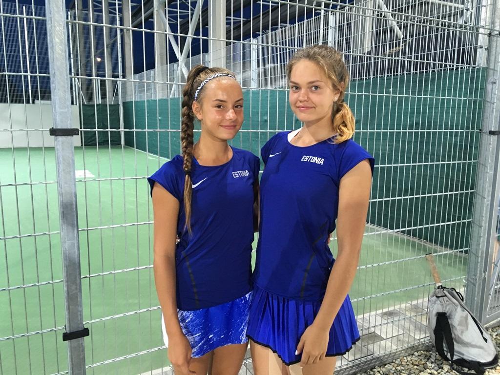 Carol Plakk ja Katriin Saar võitsid olümpiafestivalilt tennises paarismängu pronksmedali