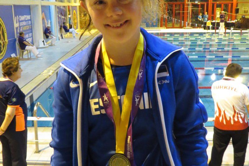 Palju õnne! Maria Rein võitis Downi sündroomiga ujujate Euroopa meistrivõistlustelt kolmanda medali