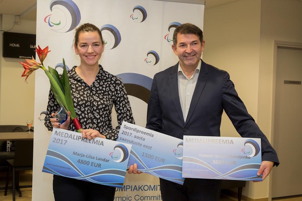 Eesti Paraolümpiakomitee valis parimateks sportlasteks Marja-Liisa Landari ja Hans Teearu