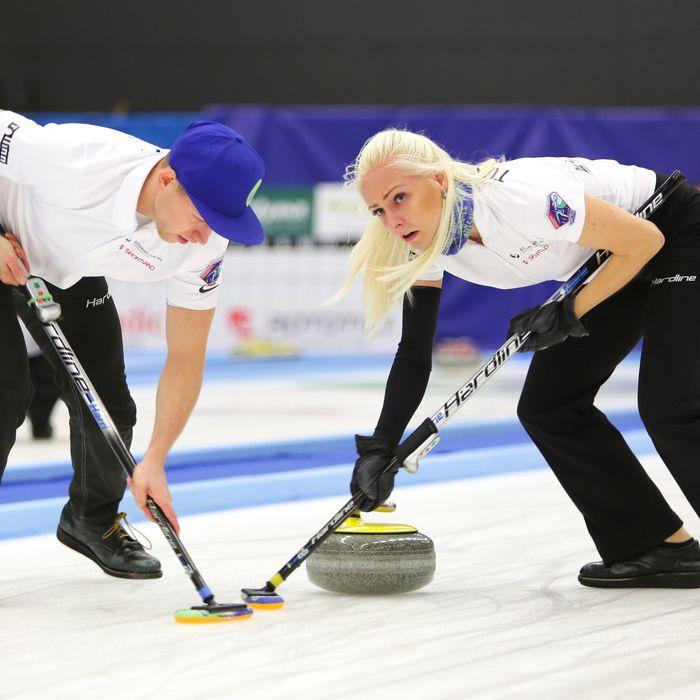 Curlingu MMil on Eesti segapaar esinenud võidukalt