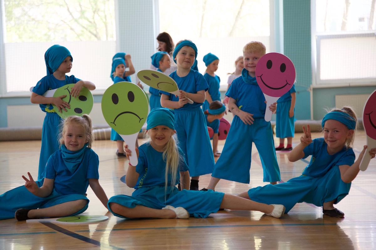 FOTOD! Katre Jaani: lasteaialapsed on Eesti suurimaks võimlemispeoks valmis!