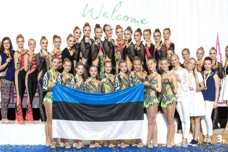 Eesti juuniortiimid said rühmvõimlemise MMil pronksmedali