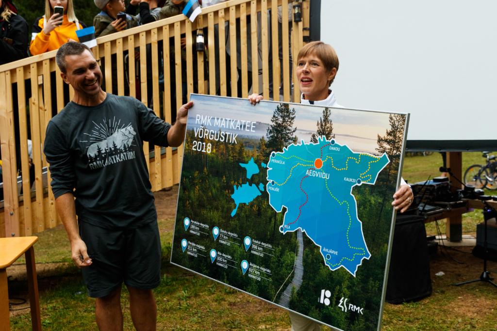 Sajad inimesed tähistasid uhke peoga üle-eestilise ühismatka lõppu