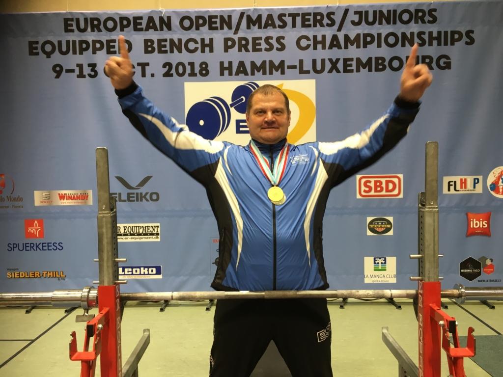 Kaido Leesmann võitis jõutõste EM-il kaks kulda