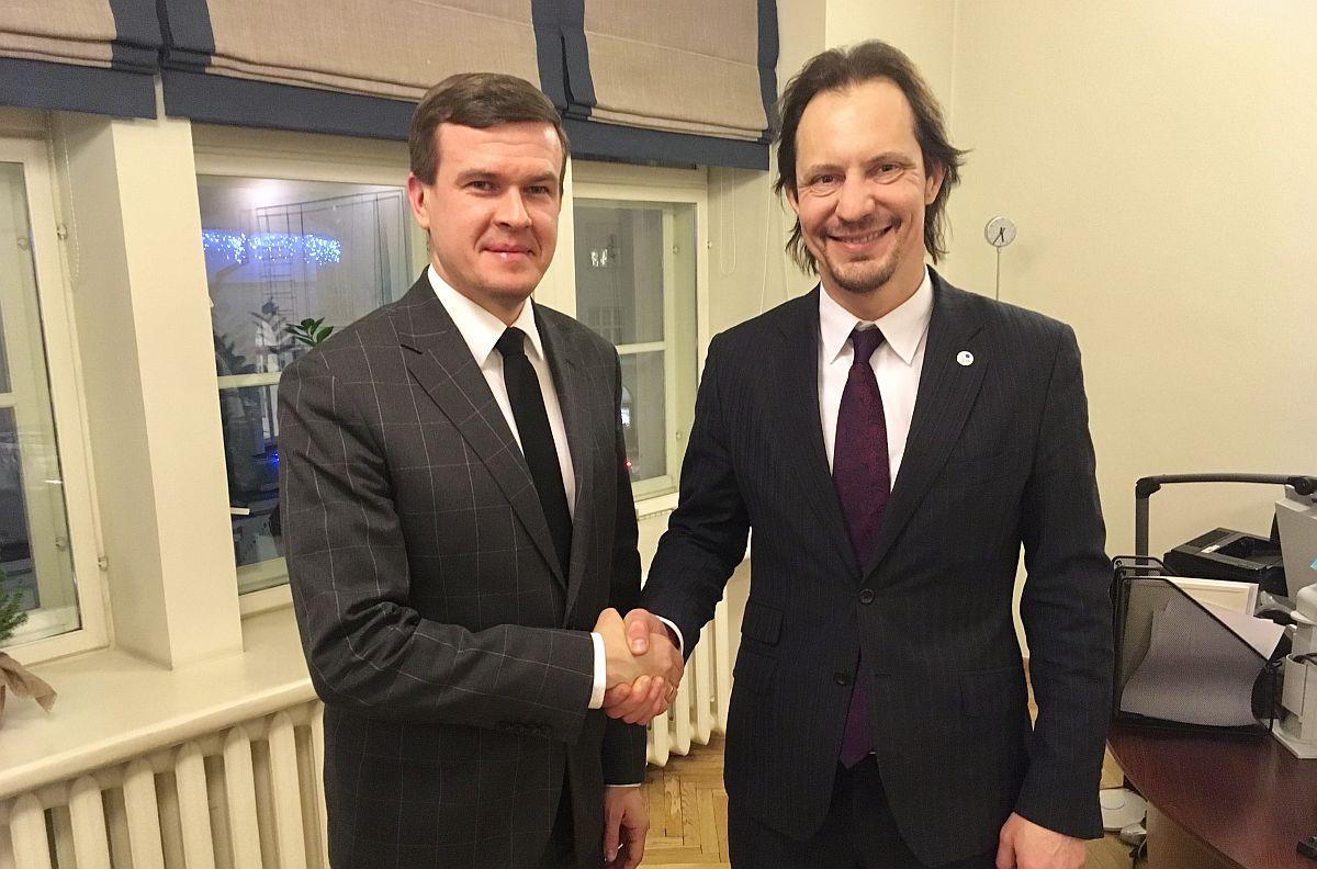 Kultuuriminister Indrek Saar ja Poola spordi- ja turismiminister Witold Bańka