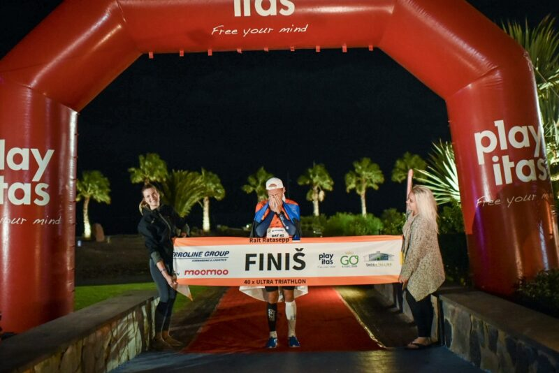 40-kordse ultratriatloniga finišeerinud Rait Ratasepp on distantsi kiireim mees maailmas
