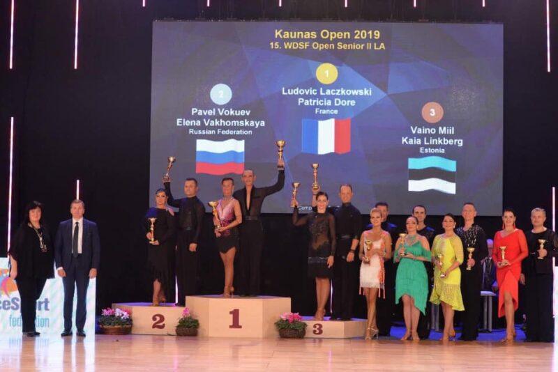 Video! Seenioride tantsupaar oli edukas Kaunas Openil